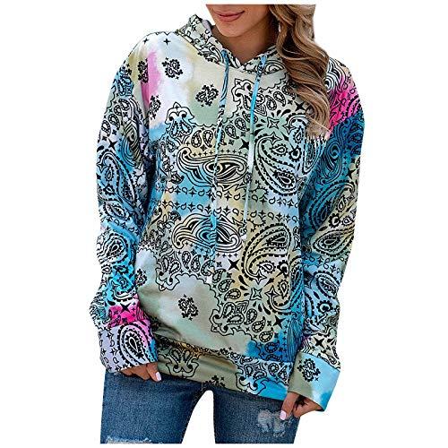 SEEGOU Hoodie Damen Sweatshirt Herbst Winter Pullover Tops Langarm Shirt Mode Print...