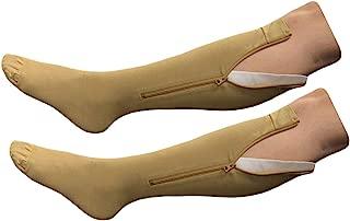 HealthyNees Closed Toe Extra Big Wide Calf Plus 20-30 mmHg Compression Leg Sock