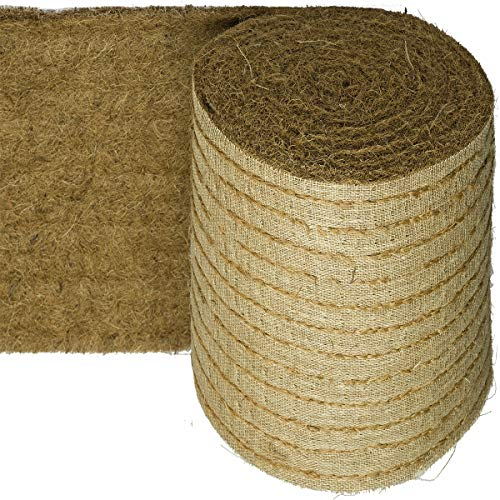HaGa® Tapis coco avec couture sur toile de jute 0,5 m x 1 m (vendu au mètre) 2000 g/m²