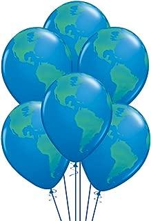 Qualatex Globe Biodegradable Latex Balloon, 11-Inch (12-Units)