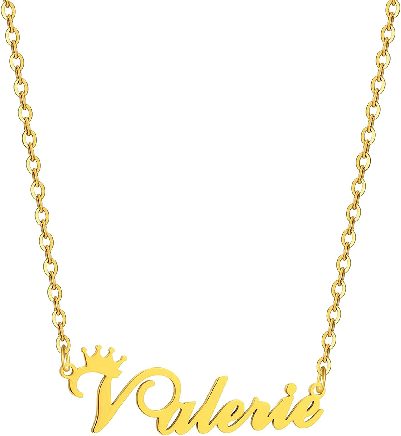 SKQIR Gold Custom Women Name Necklace Overseas parallel import regular item Customized Max 50% OFF Personalized C
