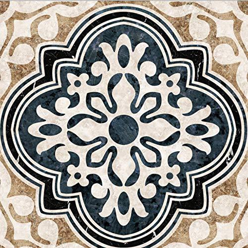 Suelo de baldosas Pegatinas diagonales autoadhesivas impermeables y resistentes al desgaste Pegatinas decorativas de suelo para sala de estar Antideslizantes 8 * 8Cm 20Pcs