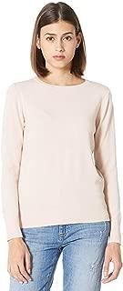 PLUMBERRY Women's Casual Long Sleeve Tops Lightweight Boxy Knit Crewneck Sweater