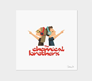 """Stampa"""" The Chemical Brothers"""". Disponibile in due misure: A4 / A3."""