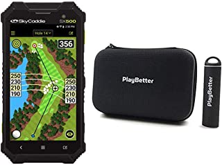 """$364 » SkyCaddie SX500 Power Bundle   +PlayBetter Portable Charger & Protective Hard Case   Rugged, Touchscreen, 5"""" Display, 35,0..."""