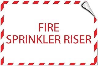 Fire Sprinkler Riser Hazard Fire LABEL DECAL STICKER Sticks to Any Surface