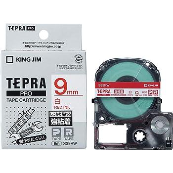 キングジム テープカートリッジ テプラPRO 強粘着 9mm 白 SS9RW