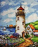 Home Decor Stitch Kit Tapestry Embroidery Set Scenery Lighthouse 23x30cm Half Cross Stitch Embroidery Set Including Multilayer Cotton Thread [] Bordado con aguja 5D HD cod.309