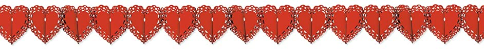 Lace Heart Garland Party Accessory (1 count) (1/Pkg)