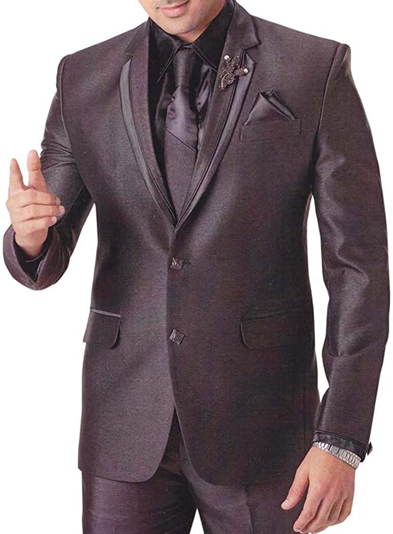 INMONARCH Mens Brown 6 pc Tuxedo Suit Groom Party Wear TX744