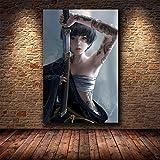 KWzEQ Leinwanddrucke Sexy Mädchen Plakate und Wandbilder