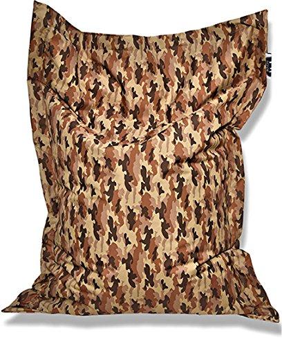 Patchhome Pouf et Coussin d'assise Motif Camouflage 170 x 145 cm Couleurs :