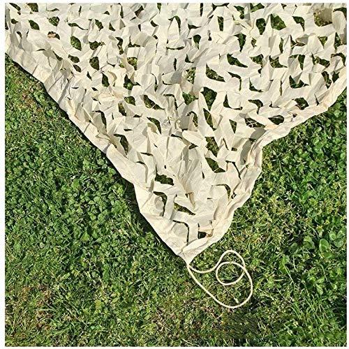 Camouflage Net Beige 5x6m Red De Camuflaje Jardín 4x6m Red De Lona Pantalla Visera Pantalla Tela Toldo Malla Tienda De Campaña Protección Solar Ejército Militar Tiro Oculto Campo Coche Ca(Size:3x5m)
