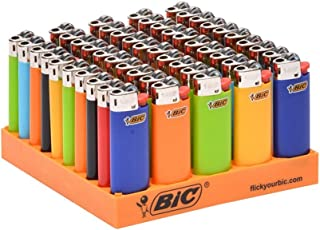 BIC mini Classic Lighter, Assorted Colors, 50-Count Tray