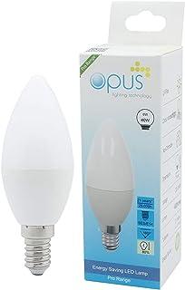 3 x Opus 6W = 40W LED Golf Ball Light Bulbs Warm White BC B22 Bayonet Cap