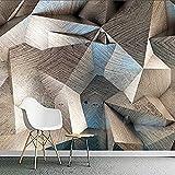 Papel tapiz mural personalizado para paredes 3D estereoscópico abstracto geométrico celosía pintura de pared Pared Pintado Papel tapiz 3D Decoración dormitorio Fotomural sala sofá mural-400cm×280cm