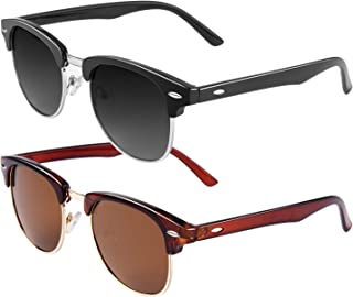 Classic Semi Rimless Half Frame Polarized Sunglasses for...