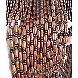 Chaxia cortinas de cuentas madera, cortina de partición casa decoración cortina colgante sala corredor cortina de puerta, 51 hebras / 61 hebras, tamaño personalizado (color : a, size : 90x200cm)