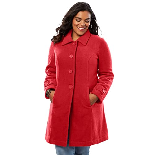 8bb54c5996d Roamans Women s Plus Size Plush Fleece Jacket