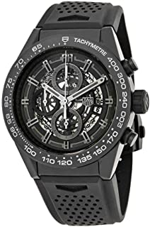 TAG Heuer Carrera Matte Black Ceramic on Rubber Strap Men's Watch CAR2A91.FT6071
