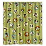 Doubee Personalisiert Owl Wasserdichtes Duschvorhang Shower Curtain 66