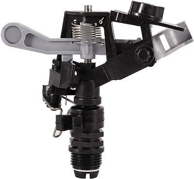 Plastic Sprinkler - 360° Rotating Lawn Irrigation Sprinkler up to 3600 Square Feet Adjustable Spray Uniform (Black)