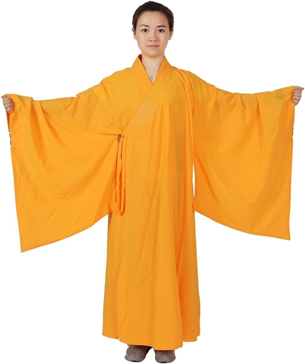 ZanYing Men Women Unisex Meditation Robe Wide Sleeves Buddhist Monk Outfit