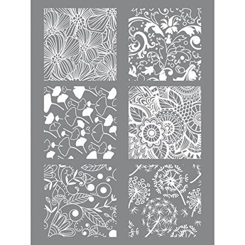 Stencil floreale argilla polimerica 11,4 x 15,3 cm