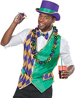 California Costumes Men's Mardi Gras Vest Kit