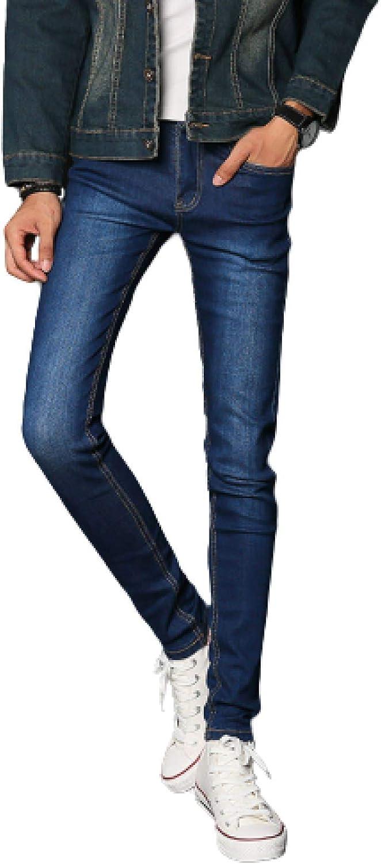 1 year warranty Men's Straight-Leg Jeans Stretch Popular overseas Skinny Plain Denim Tro Coloured