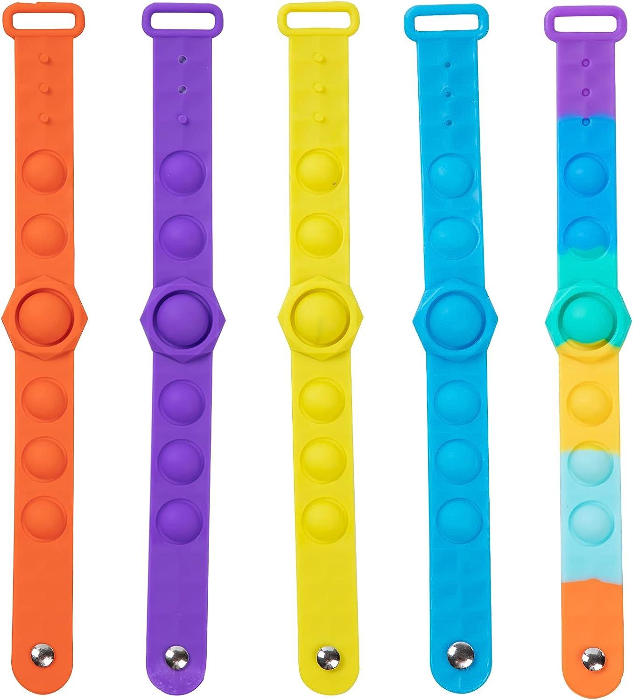 kellykessa Seasonal Wrap Introduction Pop Max 60% OFF Bracelet 5 Pack pop it Toy Fidget Bracelets Str
