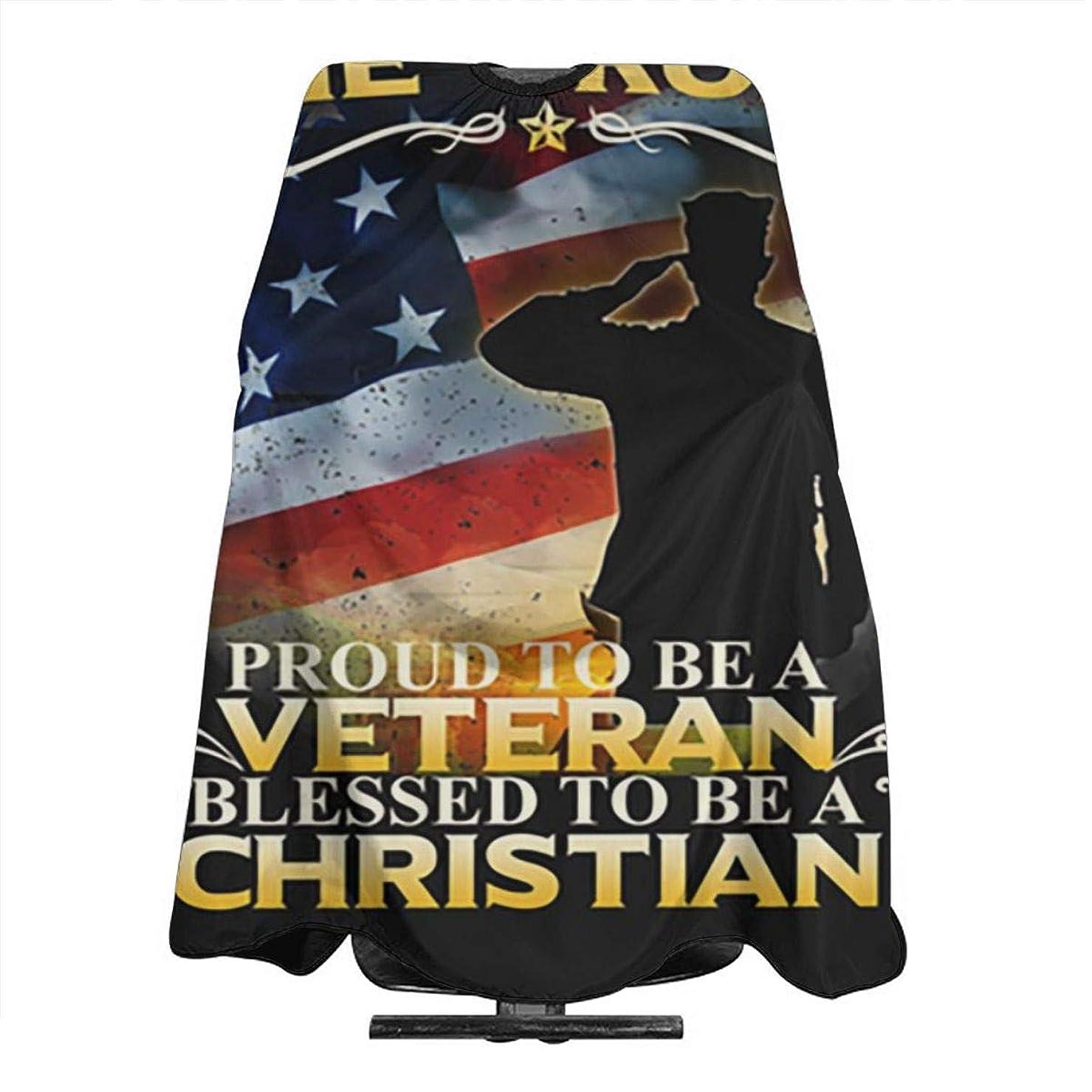 人気のエプロン 散髪エプロン140×168cm クリスマスI Kneel For The Cross Christian Veteran 家庭用、美容院、ヘアスタイリスト、DIYプロジェクト、個人的および職業的使用 散髪、エプロン