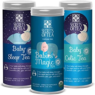 Mummy Magic Weight Loss Postpartum Tea- USDA Organic- 20 Biodegradable Sachets, Naturally Support Metabolism, Increases Energy Levels & Digestion -40 Cups (Baby Colic Relief Bundle Of 3 Teas)