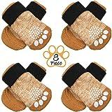 Frienda 8 Pieces Anti-Slip Dog Socks Non Skid Knit Dogs Socks Rubber Sole...