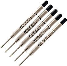 5 - Monteverde Capless Gel Ballpoint Refill to Fit Parker Ballpoint Pens, Bold Point (Bulk Packed) (Black)