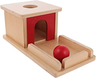 MagiDeal Educational Games Montessori Sensory Ball and Box Toy Wooden Pairing Equipment Early Education for Child Baby
