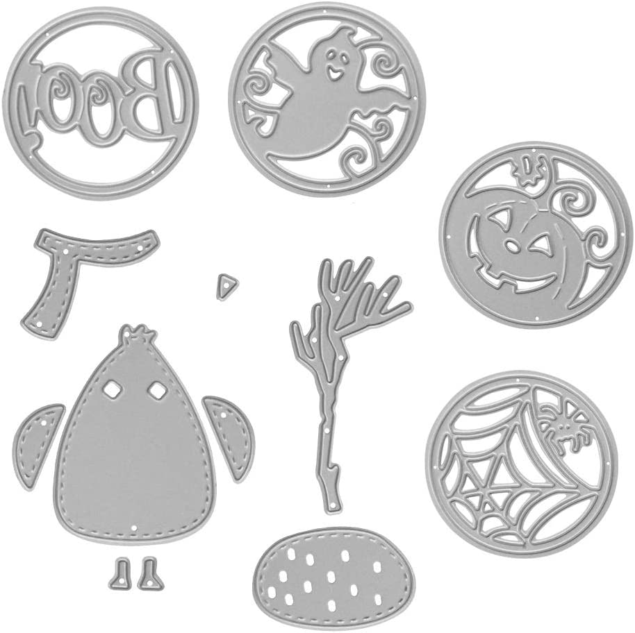Courier shipping free shipping Metal Halloween Cutting Dies 4 Circle Monster Snow and Oakland Mall Embossing