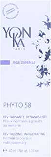 Yonka - Age Defense Phyto 58 - Regenerating, Invigorating Nighttime Treatment That Provides Anti-Aging Benefits and Promotes a Refined Skin Texture (1.38 Ounces / 40 Milliliters)