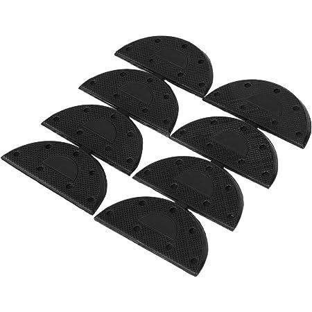 Mudder 10 Pairs Heel Plates Shoe Heel Taps Tips Sole Heel Repair Pad  With Nails