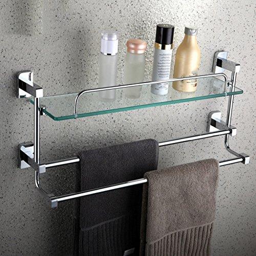 Racks de salle de bain Tout Bronze Single Layer Verre trempé plus épais avec serviette/salle de bains (taille : 40cm)