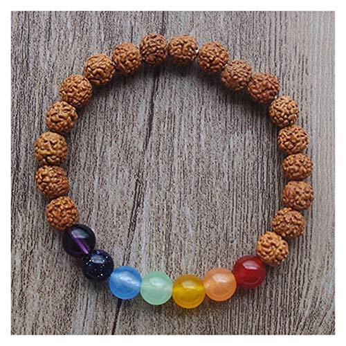 HUIJUNWENTI Prayer Beads Bodhi Bracelets Men Meditation Mala Crystal Beads Bracelets Jewelry Prayer Chakras Tibetan Bracelet (Color : 23cm, Size : 12)
