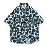 Camisa Hawaiana Para Hombre - Patrón De Galletas Impresas En 3D Hombres Playa Camisa Corta Botón Abajo Camisa Solapa Camisa Estampado Top Beachwear Verano Manga Corta Lapel Camisa Impresa, Xxl