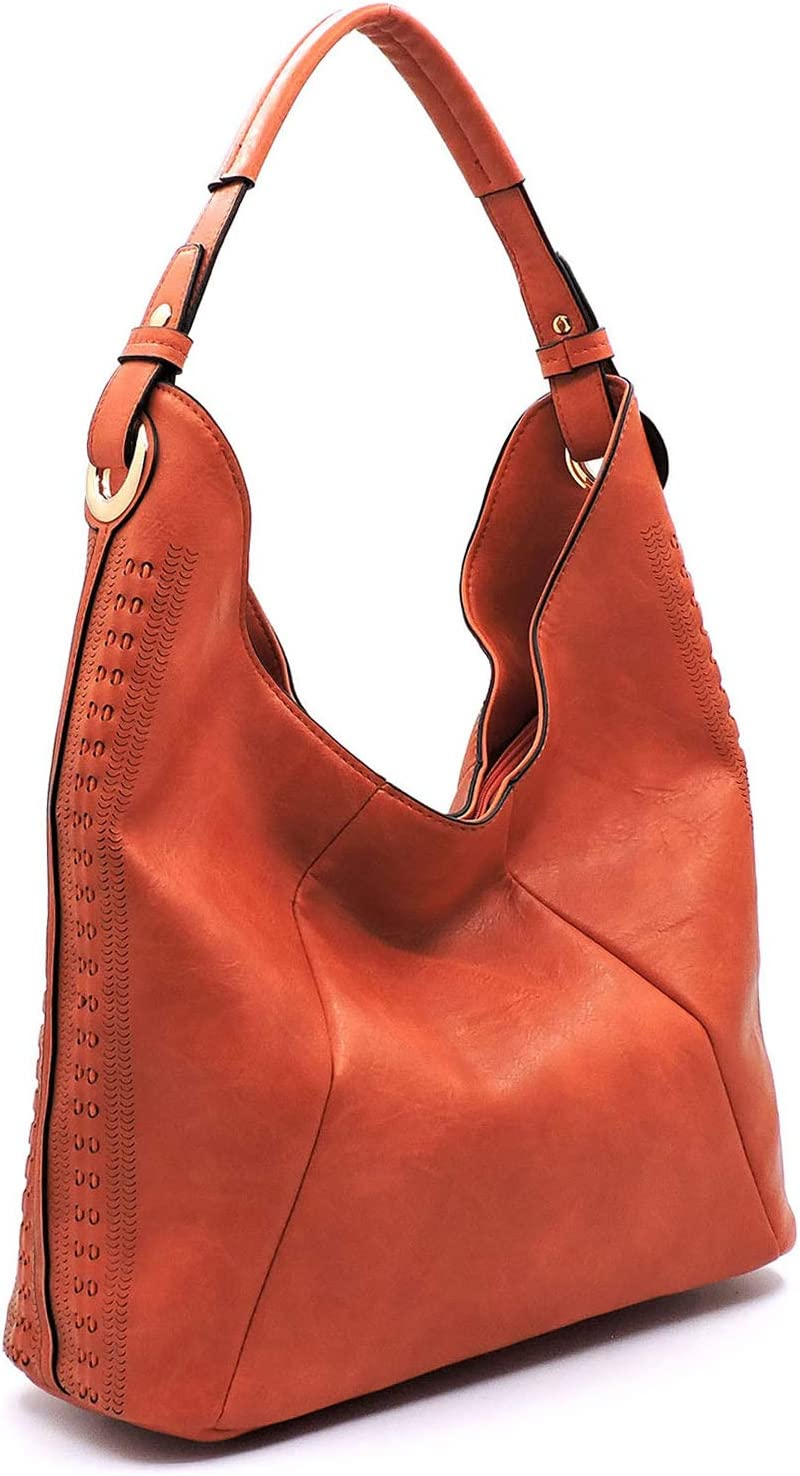 Handbag Republic Oklahoma City Mall A surprise price is realized Classic Hobo Accents Rust Perforated w