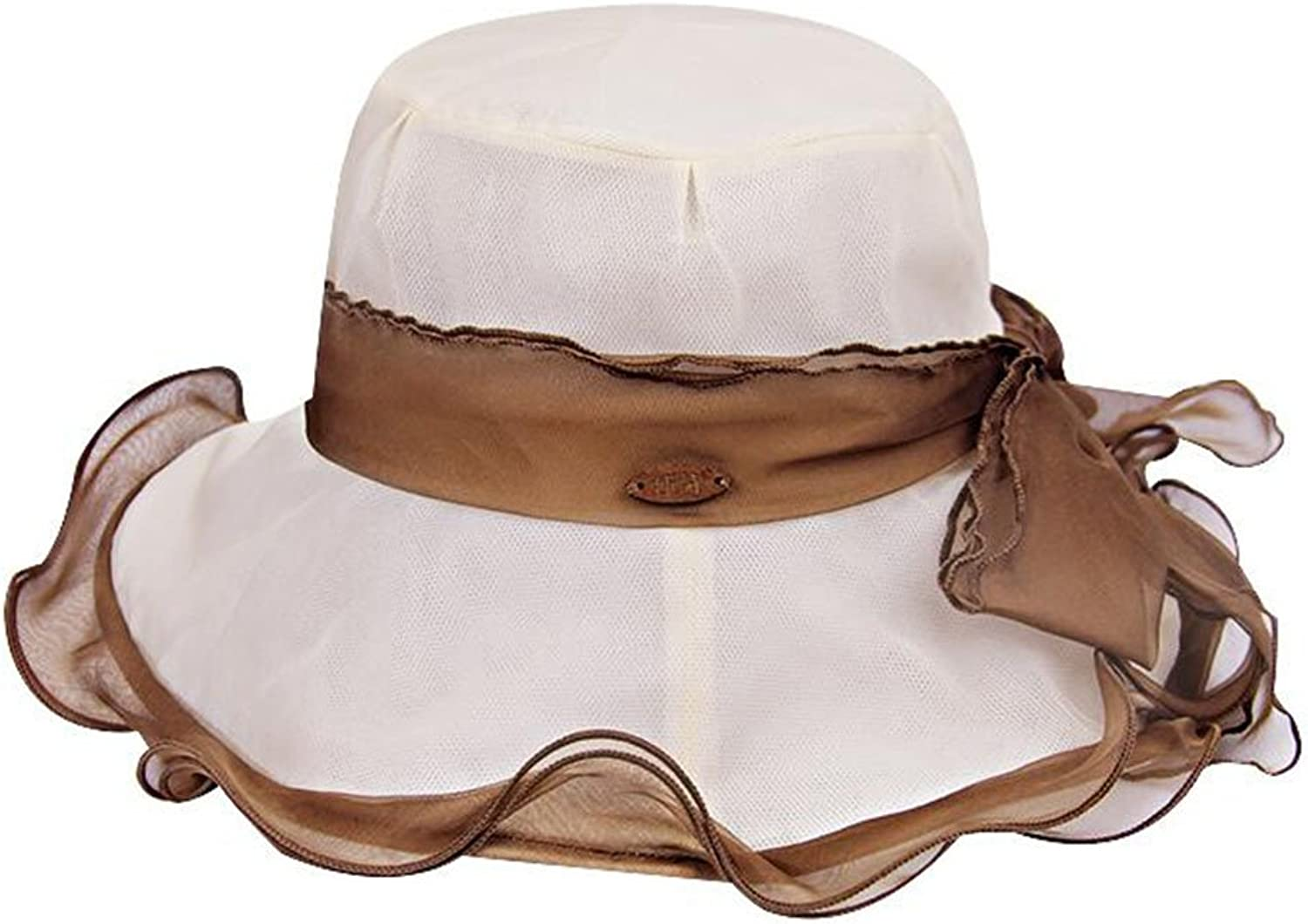 QZ Home Silk Hat Mulberry Silk Visor Female Summer Collapsible Fashion Summer Hat Cool Breathable (color   Beige)