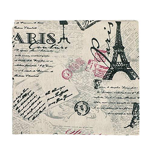 Souarts Textile Tissu Coton Motif Tour Eiffel pour Diy Patchwork Artisanat Couture 100cmx50cm 1PC (hellbraun)