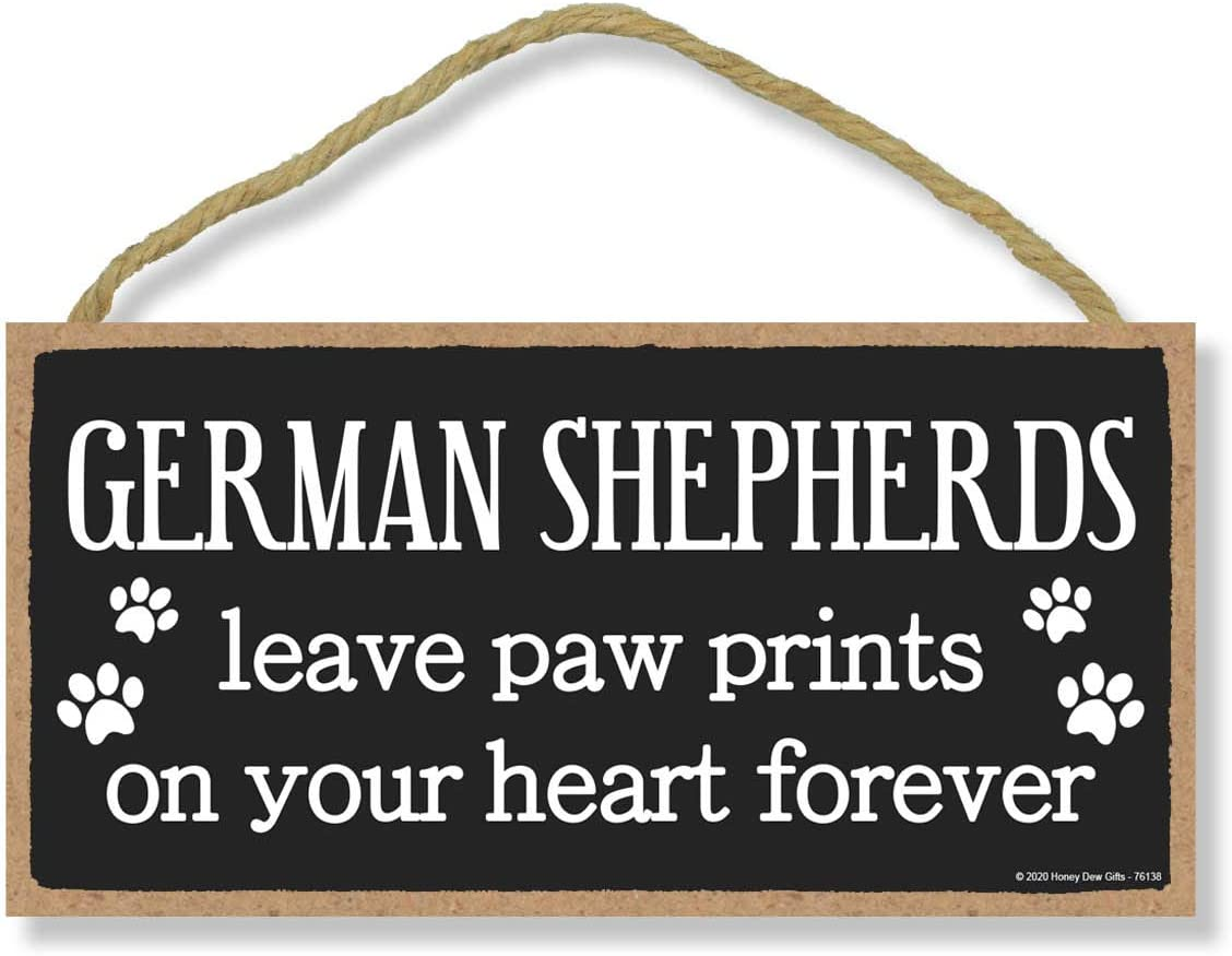 Honey Dew Gifts German Shepherds Leave Me Prints Pet Sale Special Price Wooden All items free shipping Paw