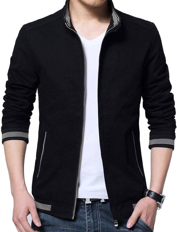 XQS Men Windbreaker Buttonless Mid Long Cardigan Hooded Coats