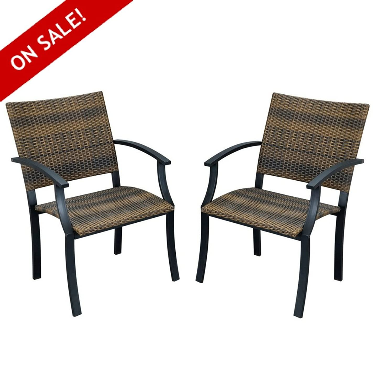 Patio Dinning Chairs Set Of 2 Contemporary Modern Best Outside Chairs Sets Clearance Sturdy Sidechair With Arms Outdoor And Indoor Backyard Porch Deck Lawn Garden Balcony And eBook By NAKSHOP