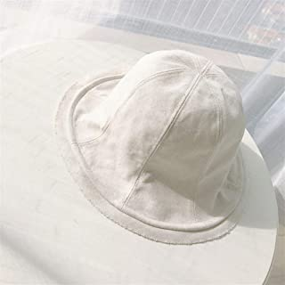 SHENTIANWEI Japanese hat Breathable Cotton Burrs Dome Fisherman hat Lovely Leisure Wild Female Summer Sun hat Basin Cap (Color : White, Size : One Size)