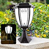 XYOUNG Solar Post Lights Outdoor, Solar Lamp Post Cap Lights,LED Solar Fence Gate Lamp Waterproof Light,LED Solar Power Lantern Landscape Pillar Post Lamp for Wood Fence Posts Pathway Perfect for Law